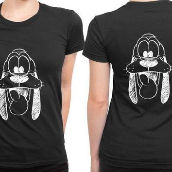 ESBH9S Disney Groovy Black And White 2 Sided Womens T Shirt