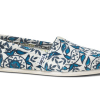 TOMS Blue JOYN Circles Women's Vegan Classics Slip-On Shoes,