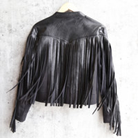 somedays lovin - born again faux leather denim moto jacket