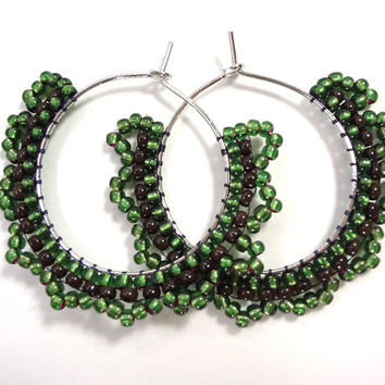 Green with Envy Hoop Earrings
