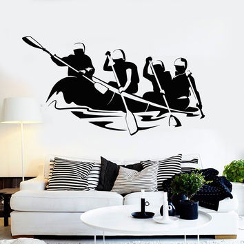 Vinyl Wall Decal Rafting Outdoor Activities Extreme Sports Stickers Unique Gift (ig4789)
