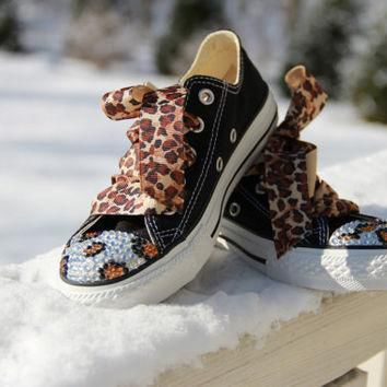 Converse All Star with Swarovski Crystals by CrayCrayKicks on Etsy