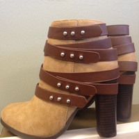 Walk This Way Boot-Taupe and Brown