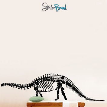 Vinyl Wall Decal Sticker Brontosaurus Dinosaur Bones #379