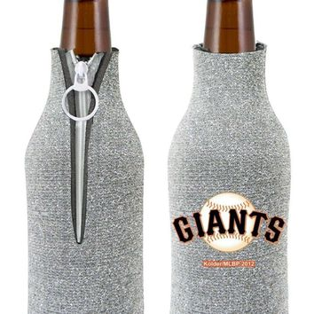 MLB San Francisco SF Giants Glitter ZipUp Insulator Bottle Holder Koozie Coozie
