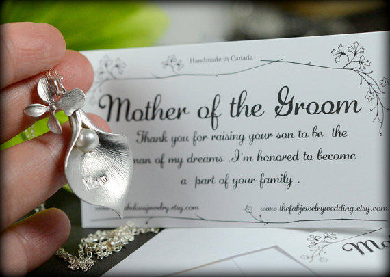 Gifts For Bride On Wedding Day From Bridesmaid: Calla Lily With Pearl ,charm,birthstone, From