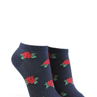 Rose Print Ankle Socks