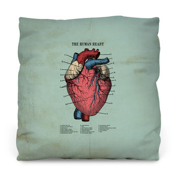 The Human Heart Throw Pillow