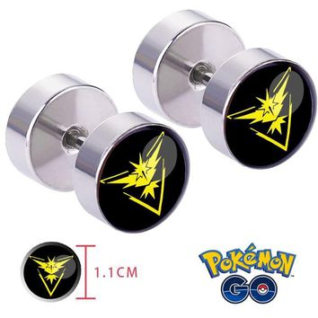 Go  Team Instinct Zapdos Ear Ring ear stud earrings Cosplay Otaku collectionKawaii Pokemon go  AT_89_9