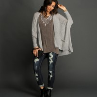 Sale-gray Light Layer Cardigan