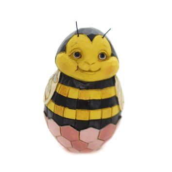 Jim Shore MINI EASTER EGGS Polyresin Hand Painted 6003620 Bee