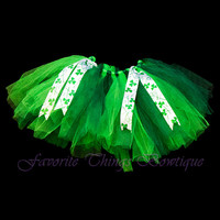 St. Patrick's Day Tutu with Ribbon