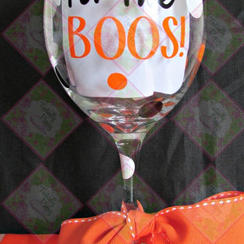 Preppy Halloween Wine Glasses - Only at Textually Preppy!