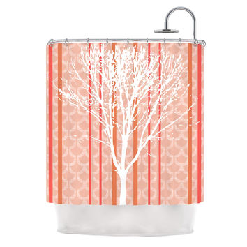 "Pellerina Design ""Spring Tree"" Orange Pastel Shower Curtain"