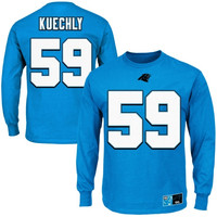 Luke Kuechly Carolina Panthers Eligible Receiver II Long Sleeve T-Shirt – Panther Blue