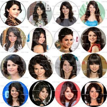 Set of 16 SELENA GOMEZ Pinback Buttons 1.25 Pins / Badges ~ Wizards of Waverly Place