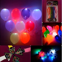 20 Pcs LED Hellium Air Mixed Colors Balloons Wedding Light Up Decoration Party