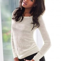 Sequin Stripe Pullover