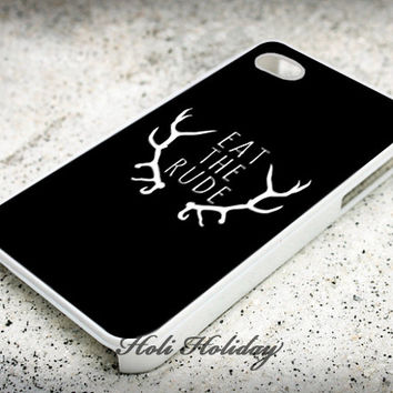 Eat the Rude Hannibal NBC - Print on hard plastic - iphone case - iphone 4 case - iphone 4/s case - iphone 5 case - samsung case - iphone