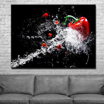 Fruit Blast Kitchen and Dining Room Wall Decor Canvas Set
