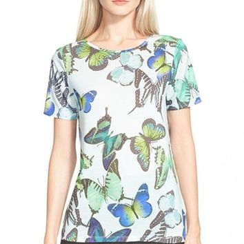 Women's Ted Baker London 'Dezl' Butterfly Print Tee,