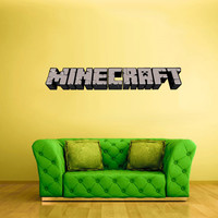 Full Color Wall Decal Vinyl Sticker Decor Art Bedroom Design Mural Like Paintings Minecraft Video Game Logo Sign Word (col446)