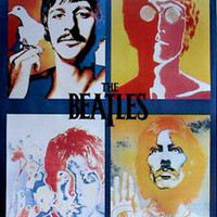 The Beatles Pop Art Collage Music Poster