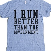 Athletic Blue T-Shirt | Funny Political Shirts