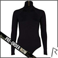 Black Rihanna turtle neck cut out body