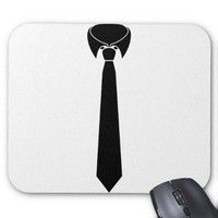Black tie mouse pads from Zazzle.com