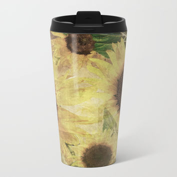 Wallflowers Metal Travel Mug by Theresa Campbell D'August Art
