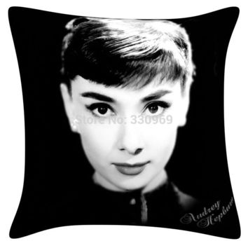 2015 new super star Marilyn Monroe and Audrey Hepburn pillowcase Art Bedroom A Living Room Cushion Set Decorative Homepillow