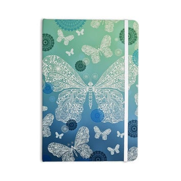 "Monika Strigel ""Butterfly Dreams Ocean"" Blue Green Everything Notebook"