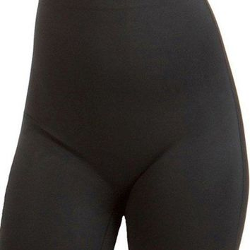 Women's High Waisted Scuba Long Leg with Lace Trim Plus Silicone