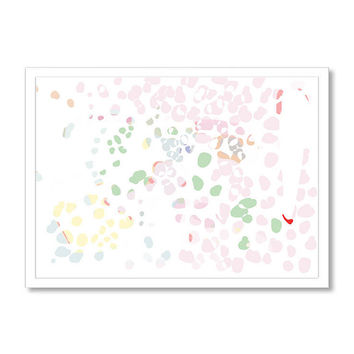 Abstract print, Printable art, Leopard inspired print in pink and green colors, Abstract wall art, home décor, modern art print, living room