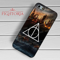 harry potter deathly hallows burning castle-1naa for iPhone 4/4S/5/5S/5C/6/ 6+,samsung S3/S4/S5,S6 Regular,S6 edge,samsung note 3/4