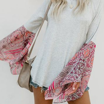 Season In The Sun Scarf Knit Top