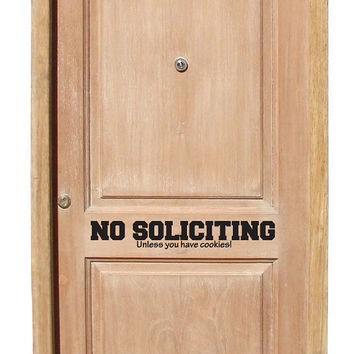 No soliciting front door decal Unless you by Walkingdeadpromotion