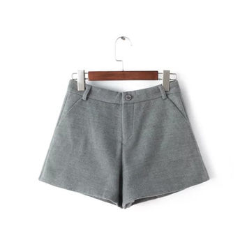 Winter Korean Stylish Plus Size Casual Pants Shorts [4917796932]