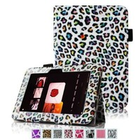 """Fintie (Leopard Rainbow) Slim Fit Leather Case Cover Auto Sleep/Wake for Kindle Fire HD 7"""" Tablet (will only fit Kindle Fire HD 7""""):Amazon:Kindle Store"""