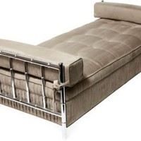 One Kings Lane - Gustavo Olivieri - Chrome Faux-Bamboo Daybed