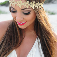 Coming Undone Headband: Gold