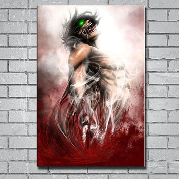Cool Attack on Titan Y576 Art Print  Hot Anime 14x21 24x36 27x40inch Silk Poster Wall Canvas Sticker AT_90_11