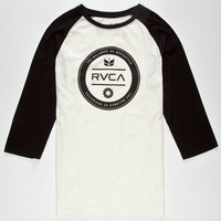 Rvca Runaround Mens Baseball Tee White  In Sizes