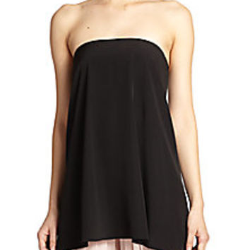 Tibi - Simone Silk Strapless Top - Saks Fifth Avenue Mobile