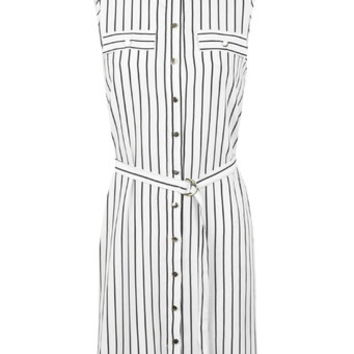 White Striped Shirt Dress - Dresses - Apparel