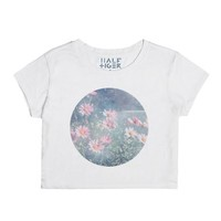 Magical Daisies-Female Snow T-Shirt
