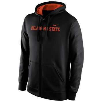 Oklahoma State Cowboys Nike Warp KO Full Zip Performance Hoodie - Black