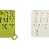 INFMETRY:: Silicone Alphabet Letter Ice Cube Tray - HomeDecor