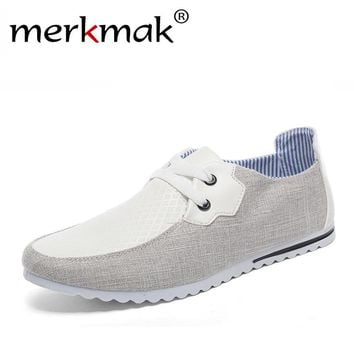 New 2017 Breathable Man Hemp Summer Flat Shoes Fashion Leisure Men Shoes Light Soft Men Casual Comfort Boat Driving Men's Flats